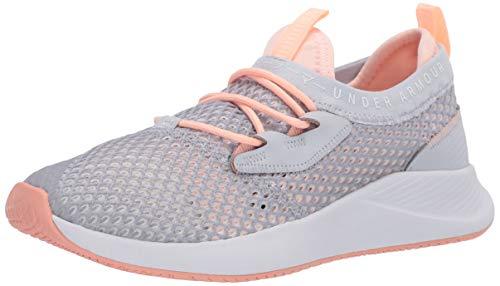 Under Armour Charged Breathe Smrzd - Zapatillas deportivas para mujer, gris (gris halo (105)/escarcha de melocotón), 41 EU