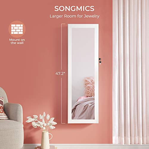 Product Image 6: SONGMICS 6 LEDs Mirror Jewelry Cabinet, christmas gifts for women, 47.3