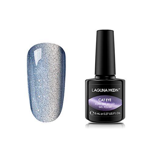 Lagunamoon Gel Nail Polish,Soak Off UV LED Gel Nail Varnish Cat Eye Nail Art Multi-Colours 8ML-13003