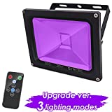 UV Black Light Party Light, 20W Sound Activated Black Lights for Parties,LED Strobe Blacklight Flood Light with Remote Control, Party Supplies for Halloween Birthday Dance Party