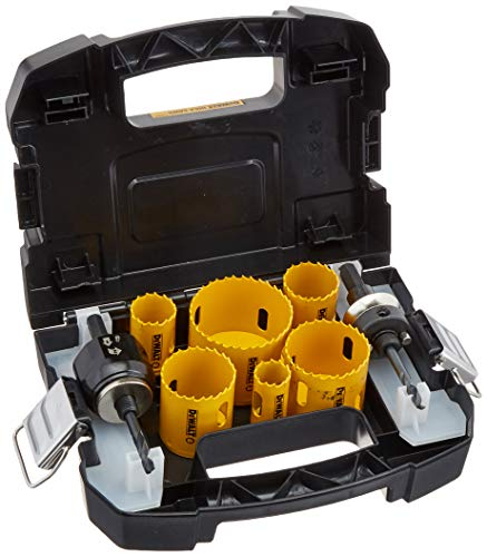 DEWALT Hole Saw Kit, Standard Electrician's Set, Bi-Metal (D180002)