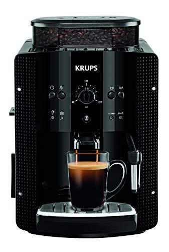 Krups Essential EA8108 Kaffeevollautomat   Espresso und Kaffee   mit CappucinoPlus- Milchdüse   individuell einstellbar   Schnelles Aufheizen   verstellbarer Kaffeeauslauf   Schwarz