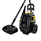McCulloch MC1385 Deluxe Canister Steam Cleaner with 23 Accessories, Chemical-Free Pressurized Cleaning for Most Floors, Counters, Appliances, Windows, Autos, and More, 1-(Pack), Black