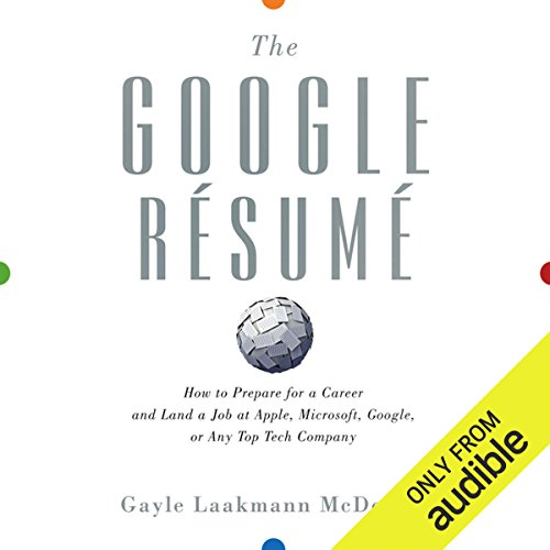The Google Resume audiobook cover art