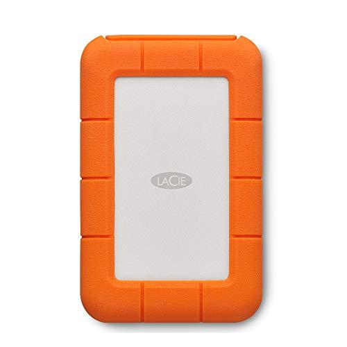 LaCie Rugged USB-C 2 To, Disque Dur Externe Portable HDD, USB 3.0, Résistant aux chutes, chocs, la...