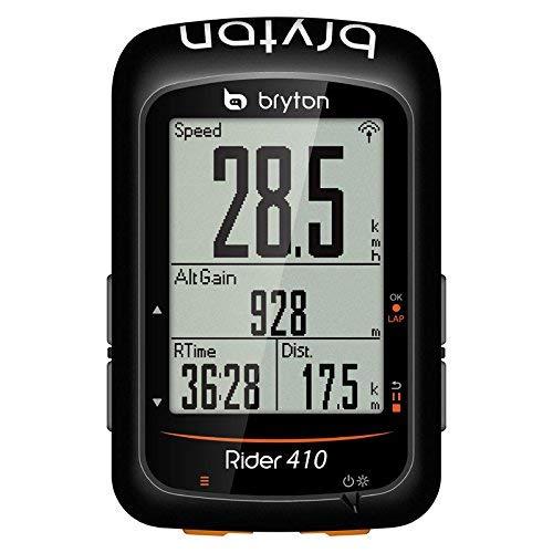 Bryton Rider 410E, Computer GPS Unisex Adulto, Nero, M