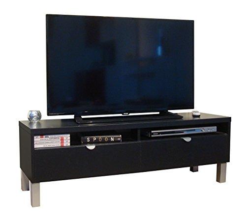 Berlioz Creations Samy Panca TV legno nero 118x 34x 39cm
