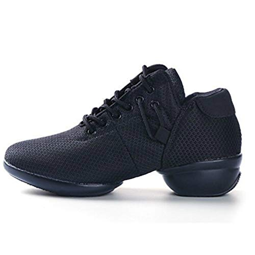 Mesh Jazz Shoes Girls Modern Split-Sole Dance Sneakers