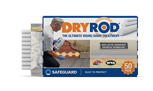 Dryrod Damp Proofing Rods (50 Pack) - Next Generation Rising Damp Treatment from The Makers of Dryzone