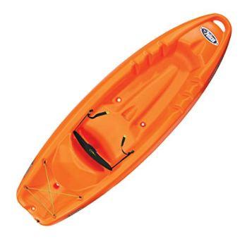 Pelican Kayak Sonic 80X | Sit-On-Top Recreationnal Kayak, Orange, 8 Feet
