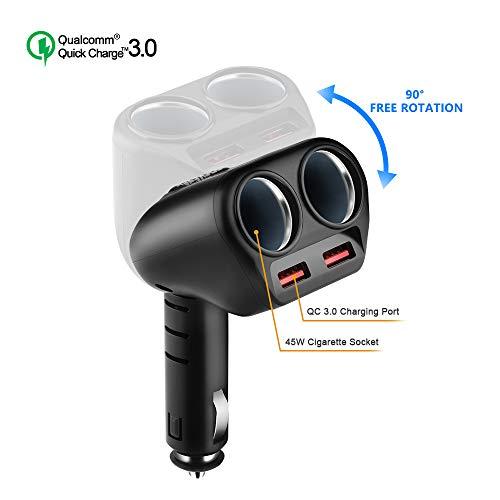 Rocketek Quick Charge 3.0 Caricabatteria per Auto,...