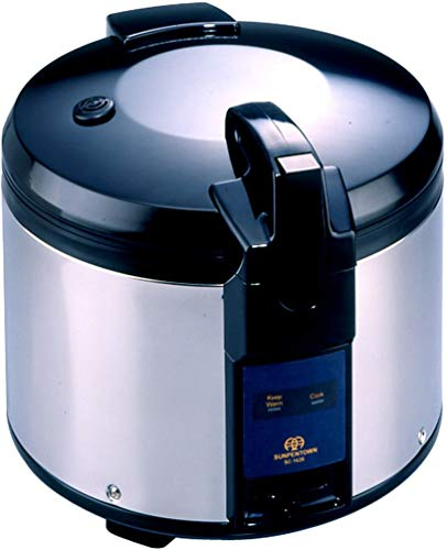 SPT SC-1626 26-Cup (Uncooked) Rice Cooker, Black/Silver