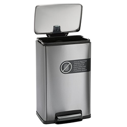 Product Image 6: Tramontina 13 Gallon Step Trash Can Stainless Steel Includes 2 Freshener Cartridges …