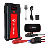 FOXPEED 2500A Car Battery Starter, 21000mAh Portable Auto Jump Starter( up to 8L Gas, 6.5L Diesel Engine), 12V Auto Battery Booster with USB Quick Charge, Power Pack with Built-in LED Flashlight