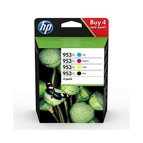 HP 953XL ComboPack 3HZ52AE, Confezione da 4 Cartucce Originali di Inchiostro, Compatibili con...