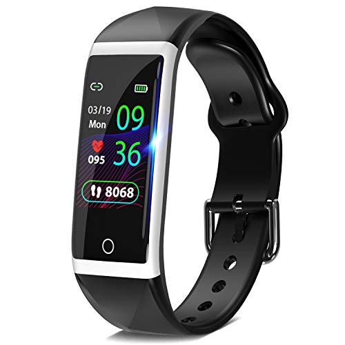 """DoSmarter Fitness Tracker, 1.14"""" HD Color Screen Health Watch with Heart Rate Blood Pressure Monitor, IP68 Waterproof Activity Tracker with Pedometer Calories Miles Counter and Sleep Tracking"""