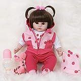 ENA Reborn Baby Doll Realistic Silicone Vinyl Polka Dot Giraffe Baby 16 inch Weighted Soft Body...