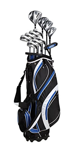 18-Piece-Mens-Complete-Golf-Club-Package-Set-With-Titanium-Driver-3-5-Fairway-Woods-4-Hybrid-5-SW-Irons-Putter-Stand-Bag-4-HCs-Choose-Color-Size