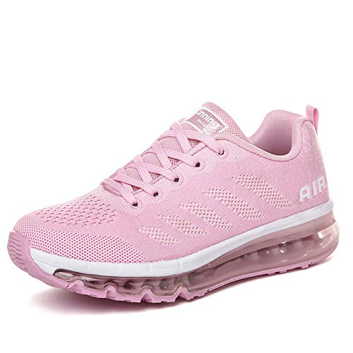 Smarten Zapatillas de Running Hombre Mujer Air Correr Deportes Calzado Verano Comodos Zapatillas Sport Pink 38 EU