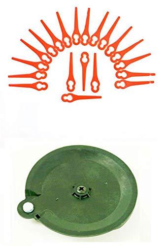20 coltelli & 1 Disco da taglio per decespugliatore Florabest a batteria Fat 18 B3 IAN 102971