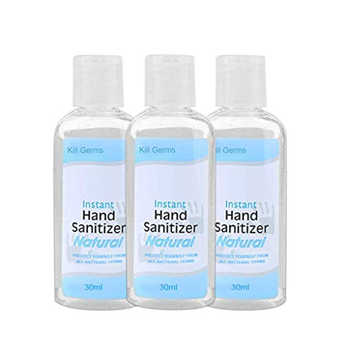 Newqinx Liquid Hand Sanitizer Gel, Moisturizing Disposable Hand Soap Botanical Hand Sanitizer Gel,50ml Free Foaming Hand Sanitizer Friendly Adults & Children (30ML_3PCS)