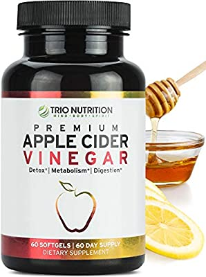 No bad taste - flavorless ACV softgels are easy to swallow, and won't leave an overpowering taste in your mouth unlike liquid apple cider vinegar or apple cider vinegar tablets. Detox pills boosted digestive enzymes & cayenne in every pill multiplies...