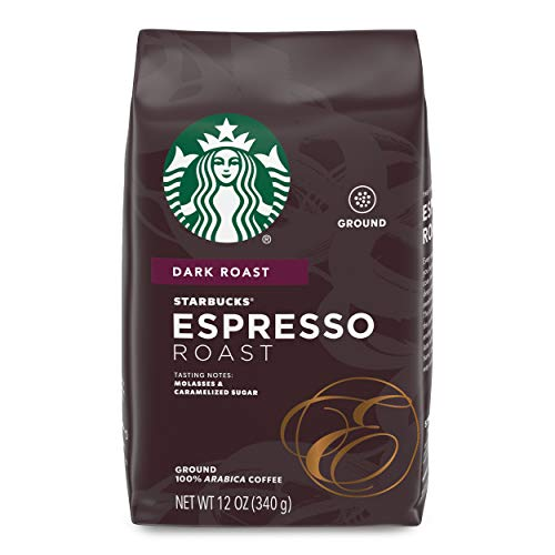 Starbucks Dark Roast Ground Coffee  Espresso Roast  100% Arabica  1 bag (12 oz.)