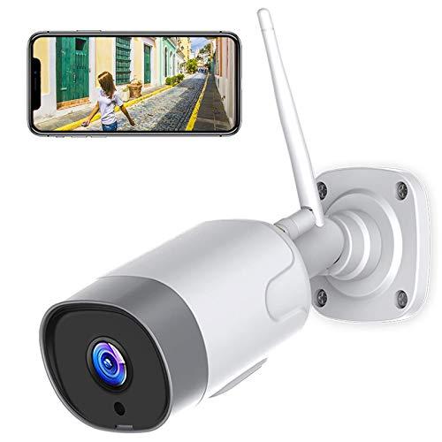 Supereye FHD 1080P Telecamera IP esterna, Telecamera di Sicurezza con Rilevazione Movimento Telecamera WiFi con IP66 Visione Notturna Impermeabile, Compatibile con IOS/Android