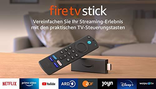 Fire TV Stick mit Alexa-Sprachfernbedienung (mit TV-Steuerungstasten)   HD-Streaminggerät   2021