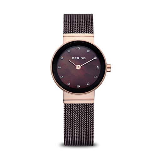 Bering Damen Analog Quarz Uhr mit Edelstahl Armband 10122-265
