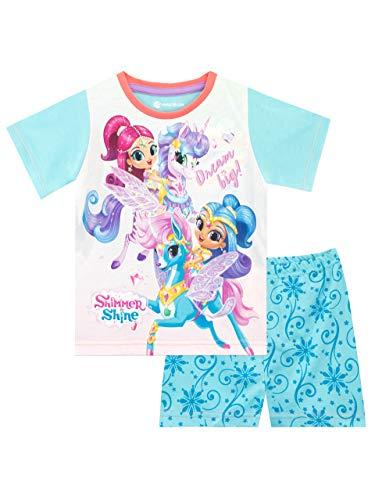 Shimmer & Shine Pijamas de Manga Corta para niñas Unicornio 6-7 Años