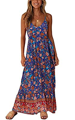 Material: 2141 - Viscose, 2142 - Cotton. This women's floral dress is 100% brand new and high quality! Catagory: women's dresses, v neck dress, sleeveless dresses, floral dress, swing dress, maxi dresses Feature: This maxi dress is featured with flor...