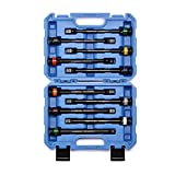 CASOMAN 10 Piece 1/2' Drive 8 Inch Length Color-Coded Torque Extension Bar Set, 65 to 150 Ft-Lbs (90 to 200 Nm), Torque Extension Tool Set