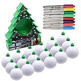 Oulian Kit Décoration Arbre de Noël DIY, Boule de Peinture électrique...