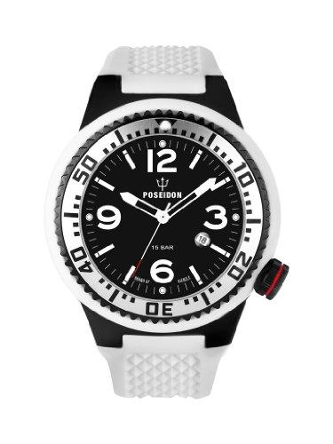 Kienzle Herren-Armbanduhr POSEIDON XL Black Pro Analog Silikon K2021173103-00256
