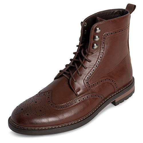Hombre Queensberry LEndEn Zapatos Botas Brogue Escabroso Oficina Inteligente Trabajo Falda Escocesa Formal Agarrado TradiciEnal Botín - Marrón - UK7/EU41 - QB0069