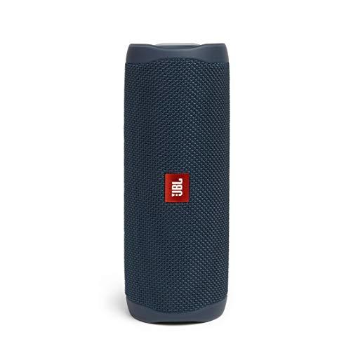 JBL Flip 5 – Enceinte Bluetooth portable robuste – Conception étanche pour piscine & plage – 12 heures d'autonomie – Son unique de JBL – Bleu