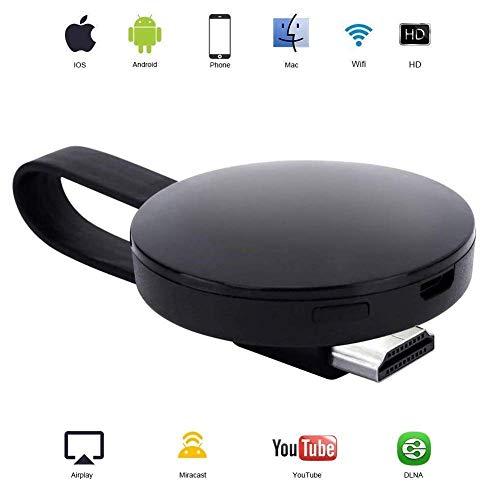 ATETION WiFi Wireless Display Dongle 1080P Mini-Receiver, der HD-Videos von Projektoren überträgt Handys Tablet PC-Unterstützung Airplay Miracast Dongle