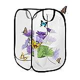 AiYoYo Insekten und Schmetterlings Habitat käfig Faltbare wasserdichte Schmetterlingshäuser Anti-Moskito Schmetterlingshaustierzelt Mini Transparent Gewächshaus Wachsen Haus 40 * 40 * 60cm