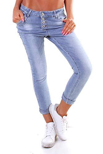 Lexxury 10118 Knackige Damen Jeans Röhrenjeans Hose Boyfriend Style...
