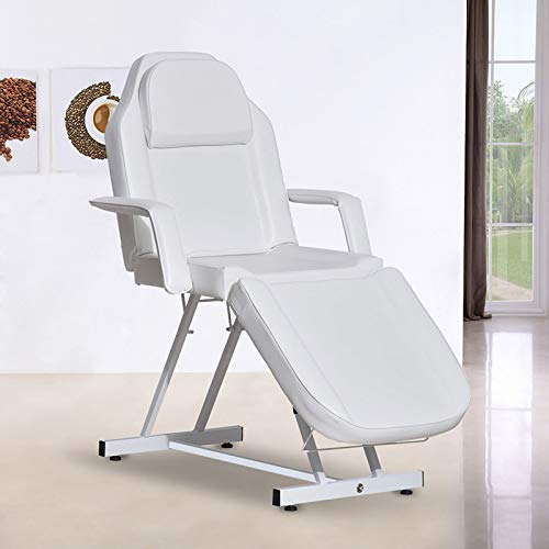 Paddie Facial Bed Chair, Massage Table Adjustable for Tattoo Lash Extensions Microblading Beauty Spa Salon Equipment, White