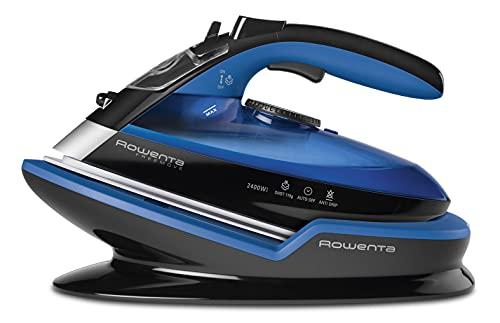 Rowenta DE5010 Freemove Ferro da Stiro a Vapore Senza Filo, 2400W, Quantit di vapore variabile 120 g/min, Nero/Blu
