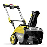 PowerSmart Snow Blower, 21-inch Cordless Snow Blower, 80V 6.0Ah Lithium-Ion Battery Powered Snow Blower, Electric Snow Thrower 180°Chute Rotation up to 40-Feet, Folding Upper Handle, DB2801