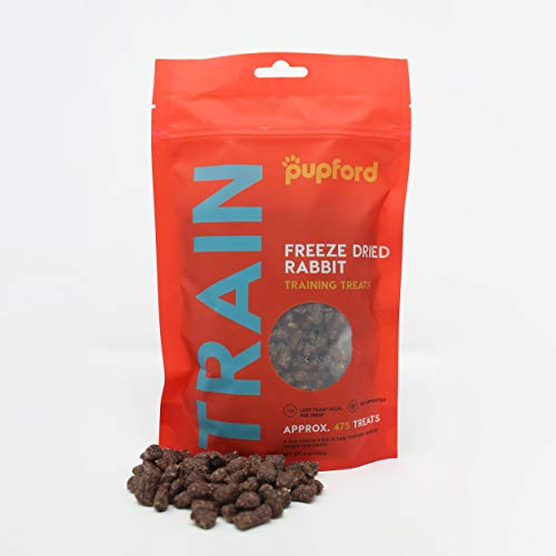 Freeze-Dried Training Treats from Pupford - 450 Treats Per Bag, Low Calorie, The Perfect High Value Training Reward (Comes in Beef Liver, Sweet Potato & Chicken) (Rabbit)