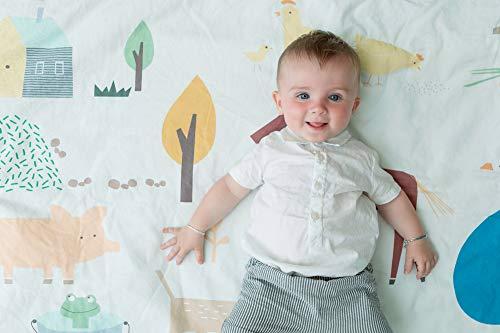 Tappeto Bambini Morbido Natale 2021 Tappetino Gioco Educativo Con Fantasie Colorate 145x95 cm Materiale Ipoallergenico...