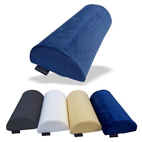 Medipaq – Cuscino Memory Foam Originale Mezzaluna – Usalo Come Cuscino Cervicale, Cuscino Lom-bare, per Ginocchia, Gambe o Piedi – Adatto a Qualsiasi Posizione