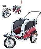 Polironeshop Argo - Rimorchio e carrello per bicicletta, per il trasporto di cani, rosso, S
