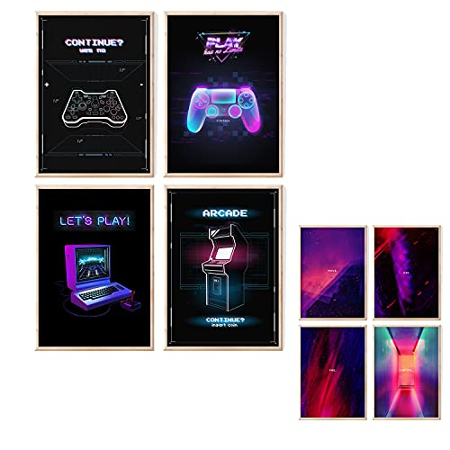 myDreamwork Gaming Poster   Poster Set   OHNE Bilderrahmen   Gamer Geschenk   Zocker Geschenk  ...