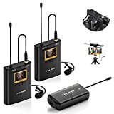FULAIM WM300 2-Person Camera Mount Wireless Lavalier Microphone System, 20 Channels UHF Wireless...