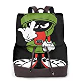 Yuanmeiju Marvin The Martian High Capacity Mochila de Cuero
